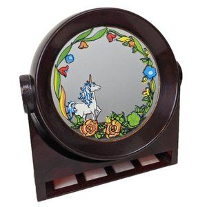 Vintage YAPS Unicorn Mirror Music Box